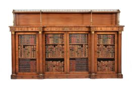 A George IV mahogany inverted breakfront side cabinet