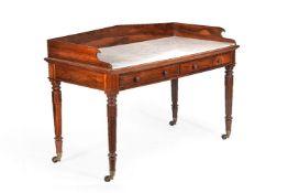 ϒ A companion pair of William IV rosewood tables
