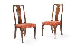 A set of six George I walnut dining chairs
