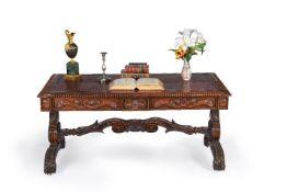 ϒ A George IV rosewood library table