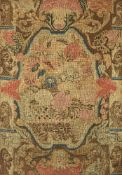 A George II wool and silk embroidered needlework panel