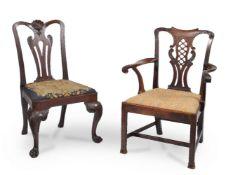A George II Irish mahogany chair
