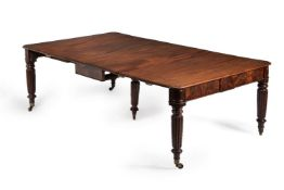 A George IV mahogany extending dining table