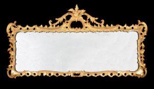A George III carved giltwood wall mirror