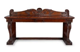 A Regency mahogany serving table