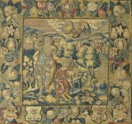 A Franco-Flemish, probably Brussels, tapestry panel depicting the Sacrifice of Isaac, mid 17th centu