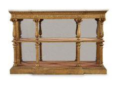 A George IV giltwood and gesso console