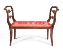 A Regency mahogany window seat