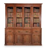 A Regency mahogany library bookcase