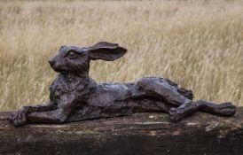 John Cox (British, 1952-2014), Lying Hare