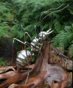 An oversized model of an ant