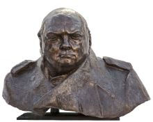 Ivor Roberts-Jones RA (1913-1996), A monumental bronze bust of Sir Winston Churchill