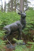 John Cox (British, 1952-2014), Standing Stag