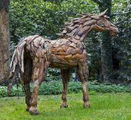 A driftwood model of a horse