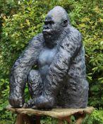 John Cox (British, 1952 - 2014), Silverback Gorilla