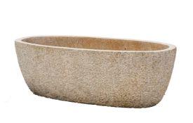 A substantial granite trough or planter