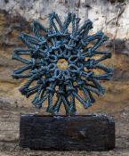 Henry Chau, Rope Flower, Patinated bronze
