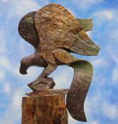 Witness Bonjisi (Zimbabwean, b. 1975), Landing Eagle