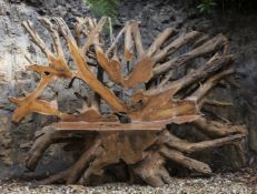 A rootwood garden seat