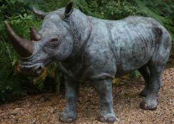 John Cox (British, 1952-2014), White rhinoceros