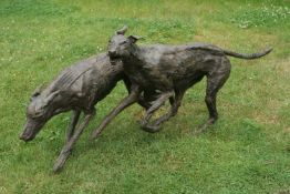 Marjan Wouda (Dutch, b. 1960), Running Dogs