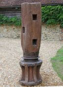 A wood and steel capstan