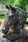 Halliday Avray Wilson (British, b. 1967), Warhorse Head