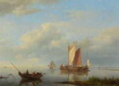 Johannes Hermanus Koekkoek (Dutch 1778-1851)Fishing in a low tide