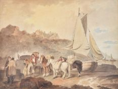 Francis Wheatley (British 1747-1801)Unloading the catch