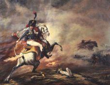 Manner of Anne-Louis Girodet de Roussy-TriosonFrench Hussar on a battlefield