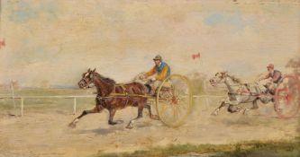 French School (circa. 1900)Harness racing