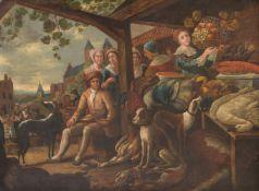 Dutch School (18th century)Village scene