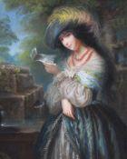 Eliza Desrivieres (French 1818-1891)La Billet Doux
