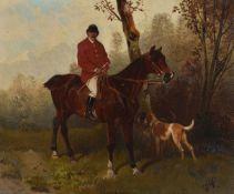 Hans Johann Haag (Austrian 1841-1919)Huntsman on horseback