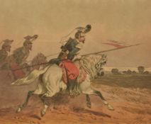 Theodore Fort (French, 1810-1896)Cavalry engagement; Preparing to shoot