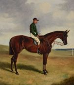 Alfred Wheeler (British 1852-1932)Ormande, with Jockey Up, 1887 and Merry Hampton, with Jockey Up, 1