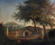 Continental School (circa. 1800)Resting at a wayside shrine