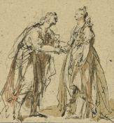 Venetian School (17th century)Man and woman shaking hands