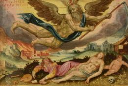 Antwerp School (circa 1600)An allegory of time; The bedchamber of a dying man