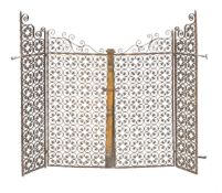 A pair of Continental wrought iron gates and bearer panels