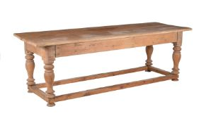 A pine farmhouse table in 18th century style
