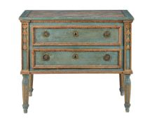 An Italian green painted commode, mid-18th century