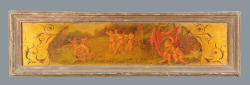 Italian School (19th century)Putti playing in a landscape