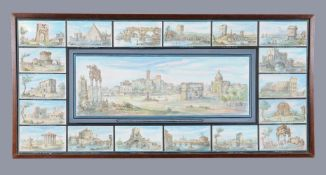 Italian School (19th Century) A framed set of views of Rome