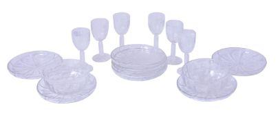 A Stourbridge part glass table service