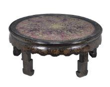 ϒ A Chinese ebonised black lacquer