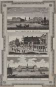 A set of six architectural engravings for Thornton's New and Complete History and Survey of London a