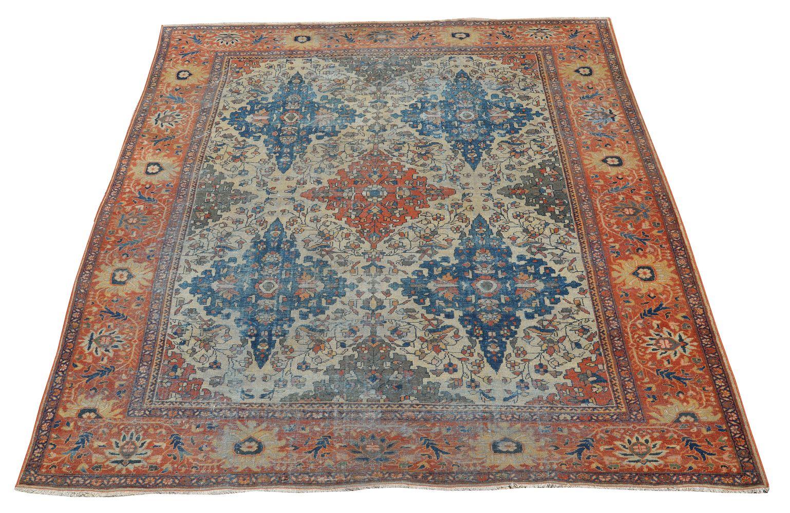 Lot 434 - A Feraghan carpet