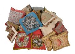 Three various French wool and silk tapestry cushions in Rococo taste