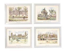 A set of twelve prints after watercolour drawings by Juan Sevilla Saéz (fl. 20th century)